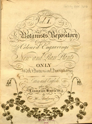 Title page of The botanist's repository : for new, and rare plants