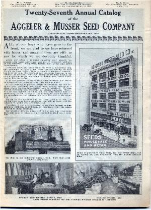 Aggeler & Musser 1920 catalog p. 1
