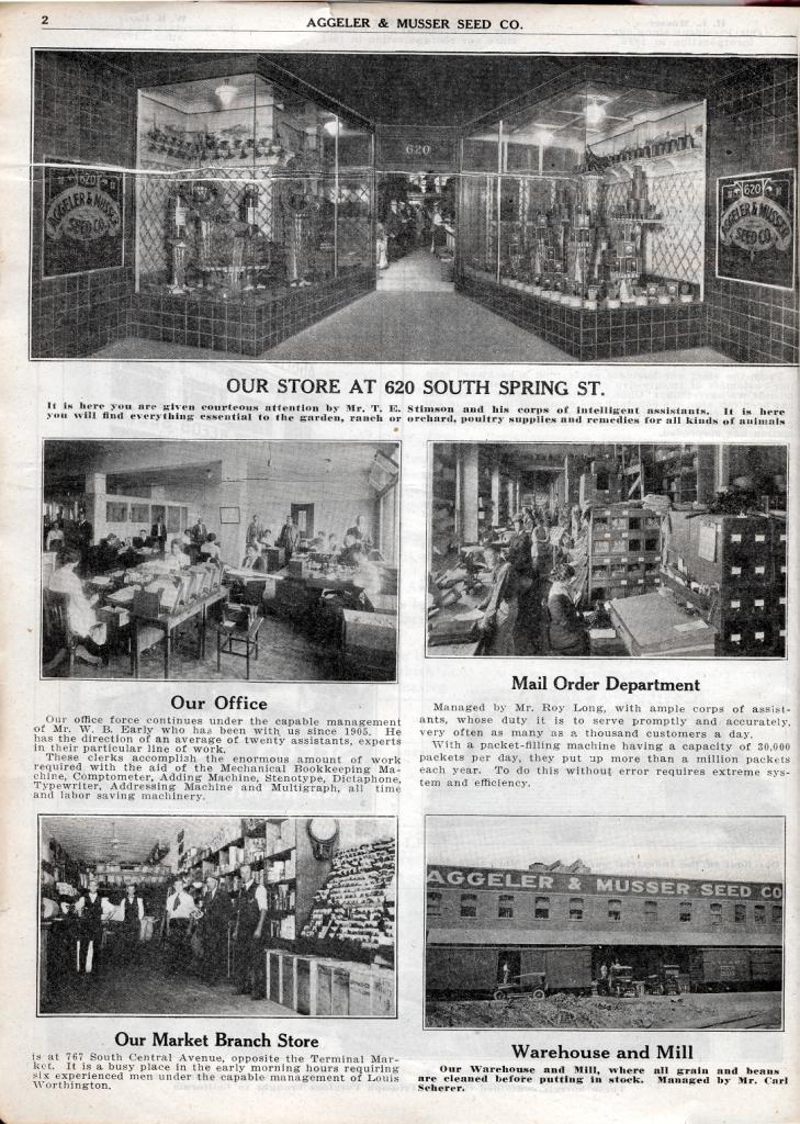 Aggeler & Musser branch stores  1920