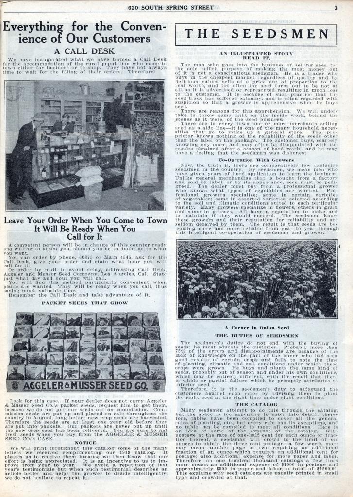 Aggeler & Musser Call Desk 1920