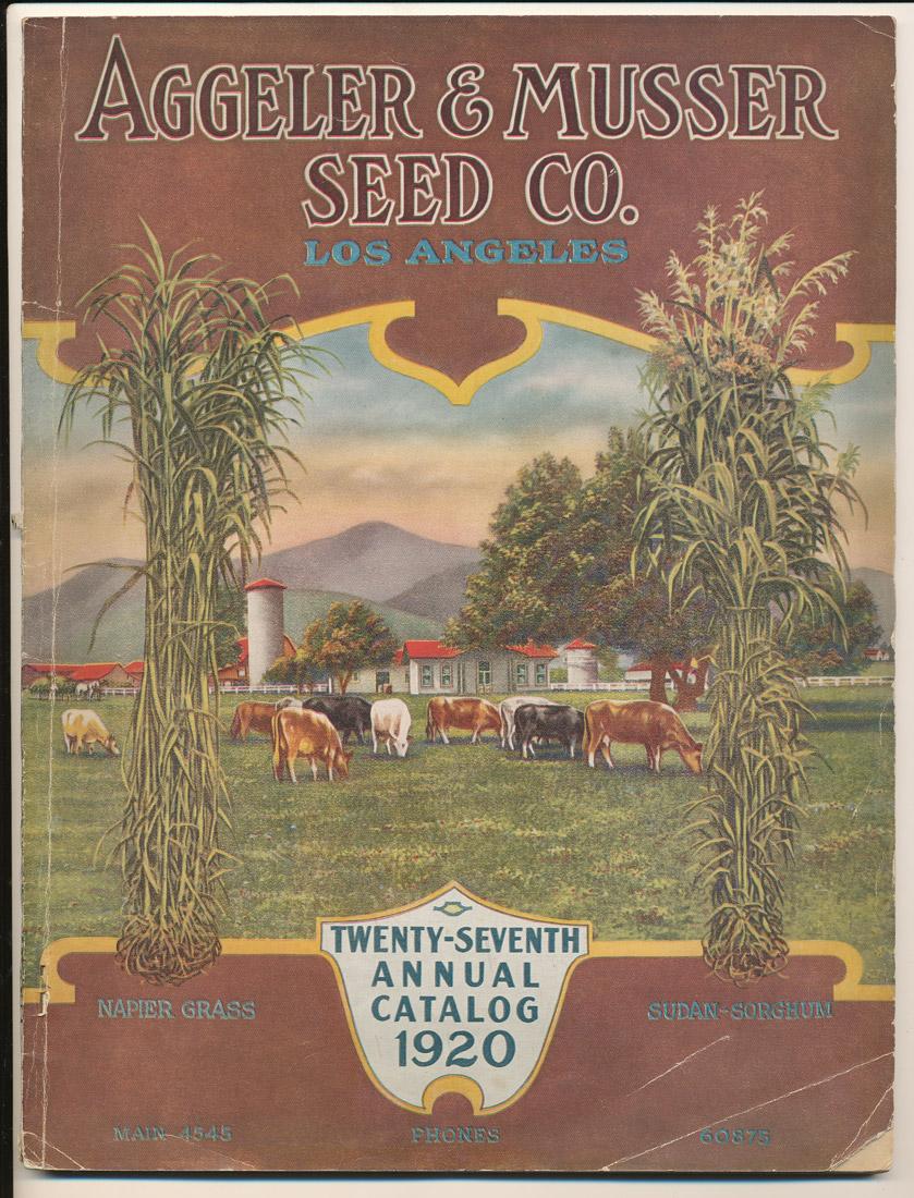 Aggeler & Musser 1920 catalog cover
