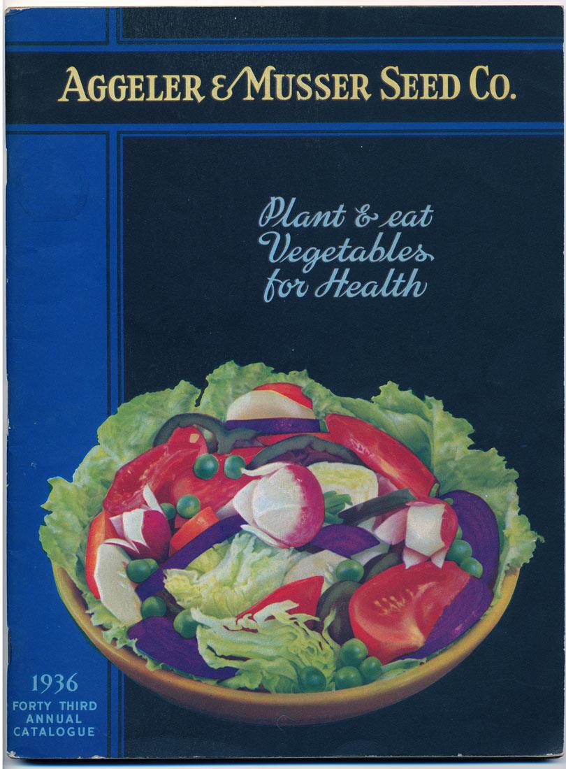 Aggeler & Musser 1936 catalog cover