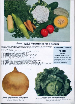 "Aggeler & Musser 1943 catalog ""Grow Vegetables for Vitamins"""