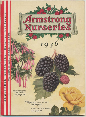 Armstrong Nurseries 1936 catalog cover