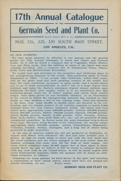 Germain Seed Company 1888 catalog p. 1
