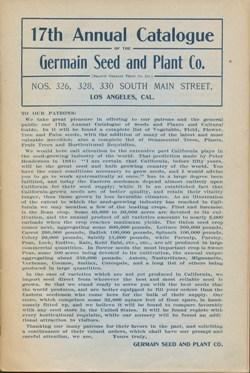 Germain Seed Company 1888 catalog p. 1