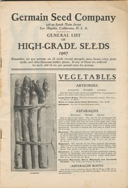 Germain Seed Company 1907 catalog p.1