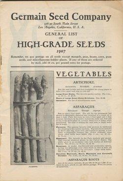 Germain Seed Company 1907 catalog p.1