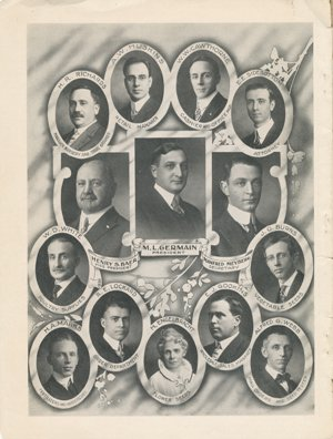 "Germain's Seed Company 1915 catalog ""Staff"""