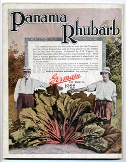 "Germain Seed Co. 1922 ""Panama Rhubarb"""