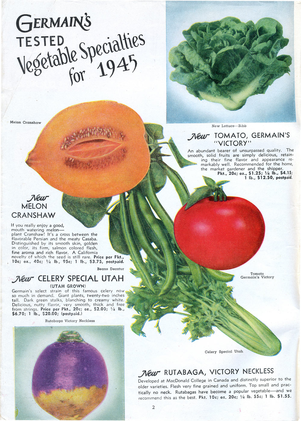Early Fruit & Vegetable Seed Catalogs of Southern California: 1940 – 1945 | The Arboretum