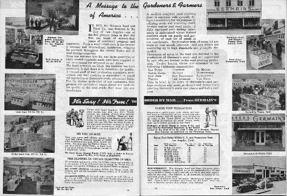 Germain's Seed Company 1945 catalog p. 10-11