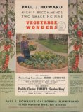 "Paul J. Howard's Flowerland 1940s ""Vegetable Wonders"""