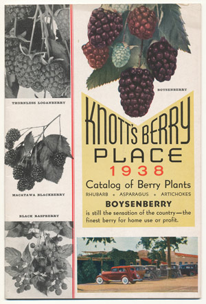 Knott's Berry Place 1938 catalog cover