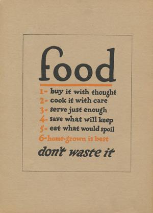 "Theodore Payne catalog 1918 ""Food"""
