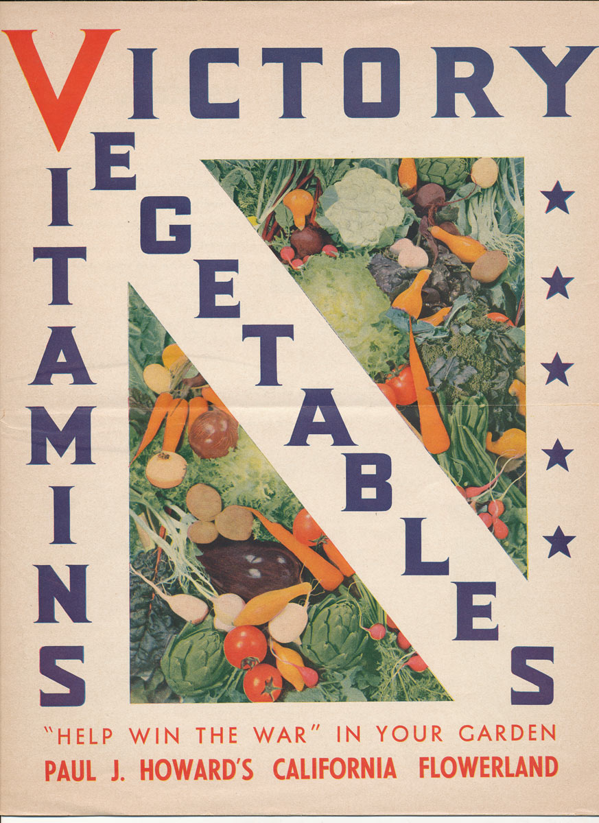 Paul J Howard's Flowerland Victory Garden catalog cover