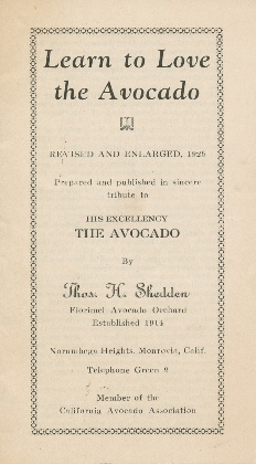 """Learn to Love the Avocado"" by Thomas Sheddon"
