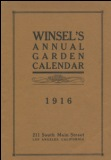 Winsel's Annual Garden Calendar 1916 catalog cover