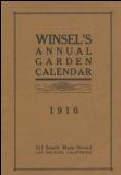 Winsel's Annual Garden Calendar 1916 catalog cover